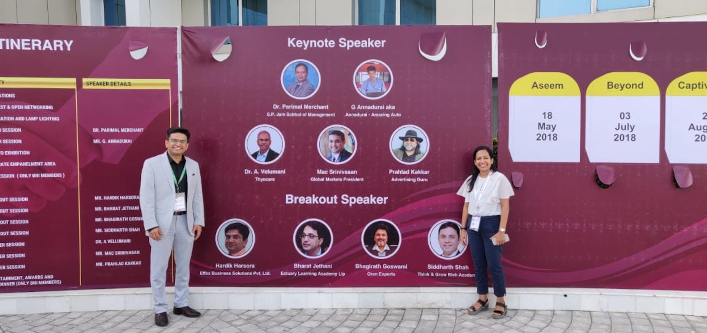 Guest Speaker at BNI Vapi Conclave 2019 BQHI3424