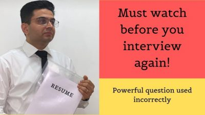 The most powerful interview question not used effectively - Interview questions and answers